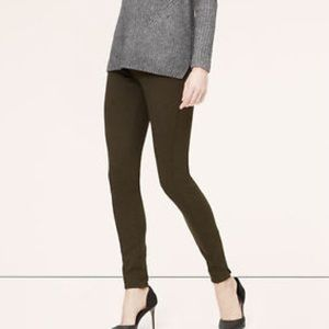 Ann Taylor olive double knit pointe leggings